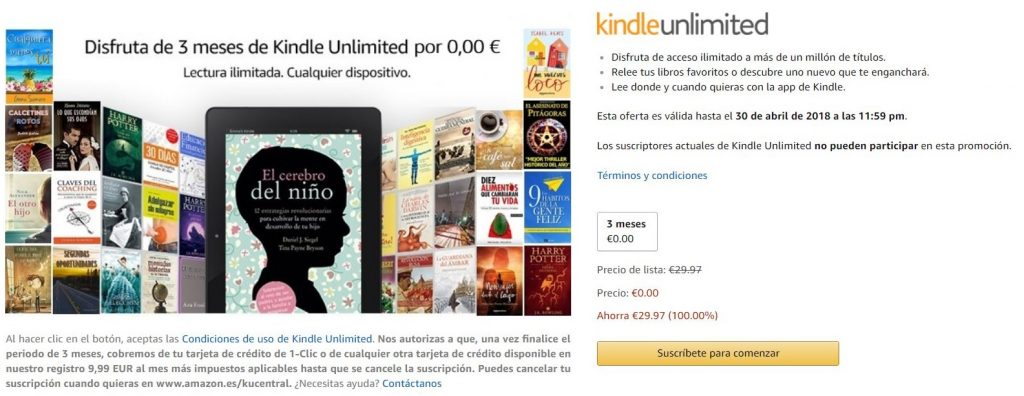 kindle unlimited gratis